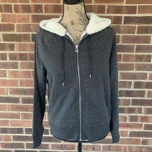 NWT GAP faux fur lined sweatshirt hoodies